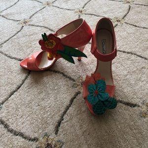 Oscar de la Renta Shoes - Oscar de la Renta coral glossy heels